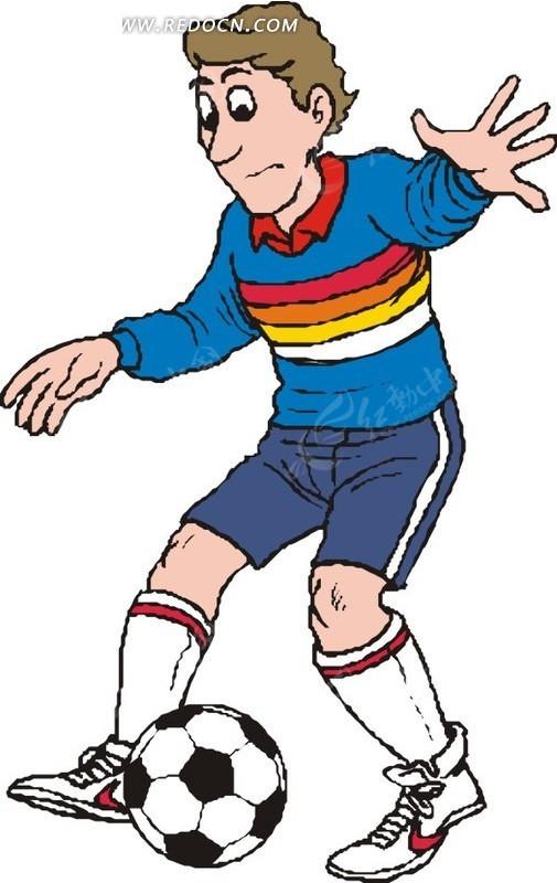 生活百科 矢量 矢量素材 卡通 插画 人物矢量 体育运动 手绘 足球运动