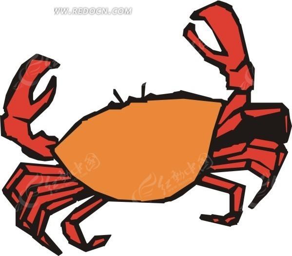 手绘卡通螃蟹