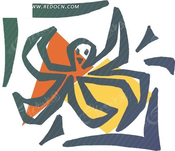 手绘卡通章鱼