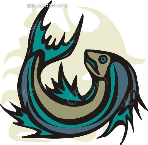 一条小鱼eps免费下载_水中动物素材