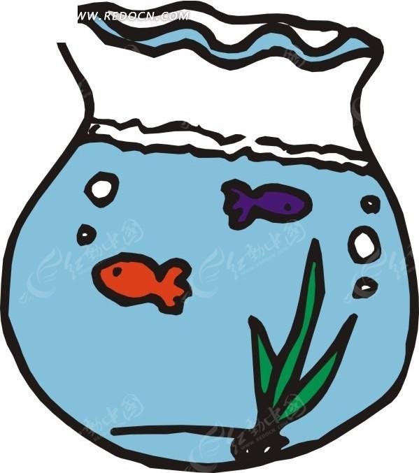小鱼  水草 手绘