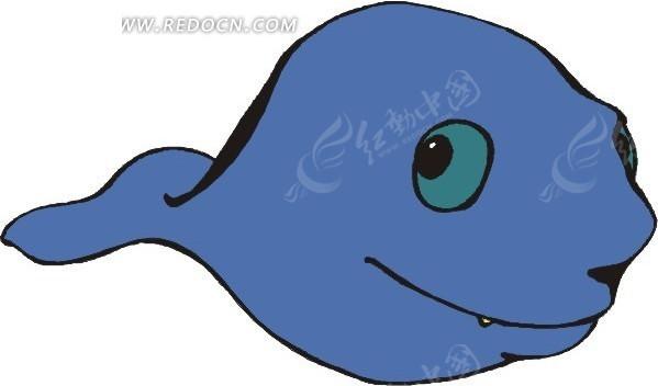 手绘蓝色蝌蚪