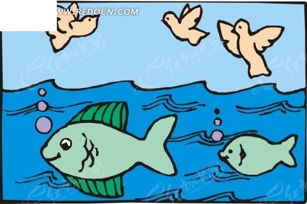 卡通画鱼分解