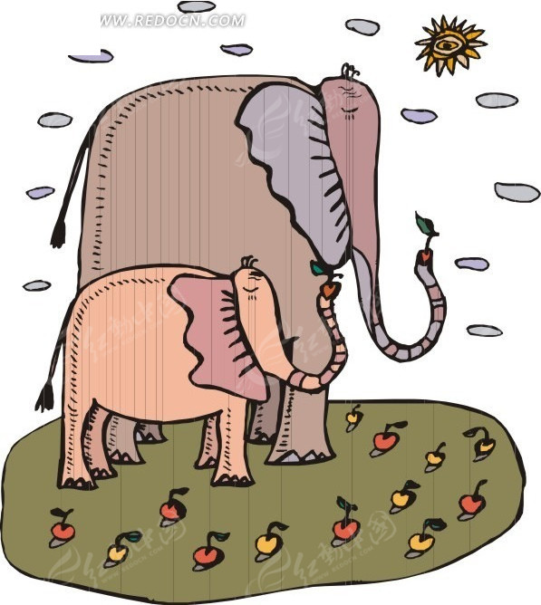大象鼻子特写