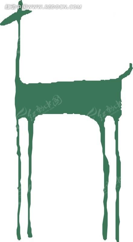 杭州野生动物世界,重庆野生动物园-动物,野生动物; 儿童画手绘抽象的