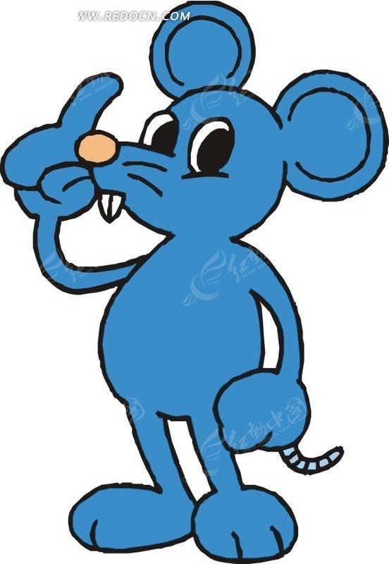老鼠 卡通动物 卡通画 插画 手绘 矢量素材 动物图片 卡通形象 动物