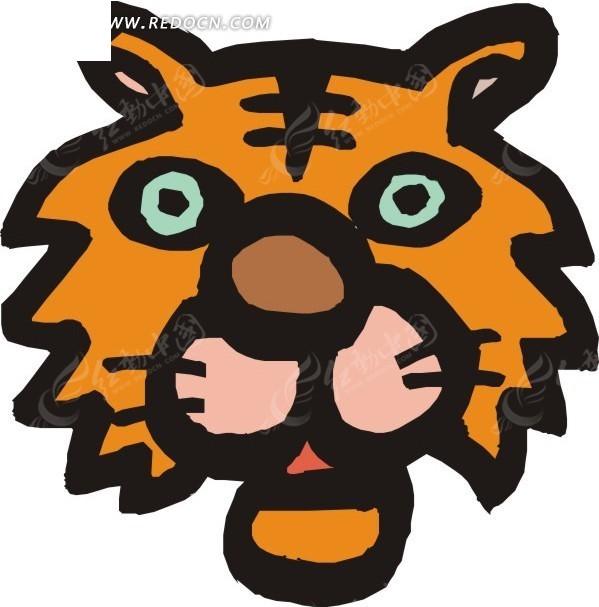 涂鸦虎头图案