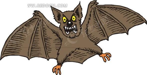 免费素材 矢量素材 生物世界 陆地动物 狰狞的蝙蝠  请您分享: 素材