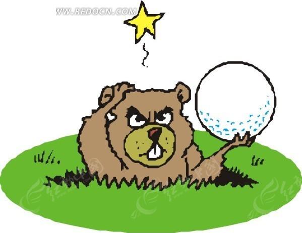 土拨鼠 卡通动物 卡通画 插画 手绘 矢量素材 动物图片 卡通形象 动物