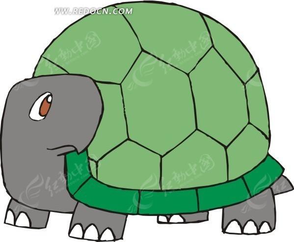 卡通绿色乌龟矢量图eps免费下载_陆地动物素材