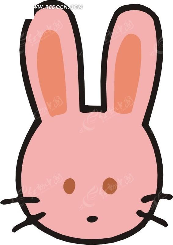 卡通画蓝色的小兔子头像_陆地动物_红动手机版