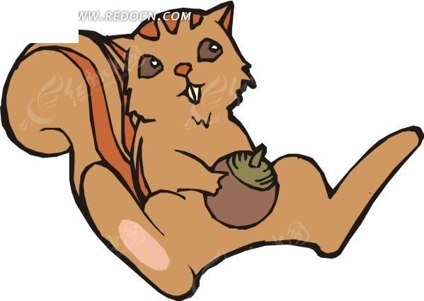 抱着松果的卡通松鼠EPS素材免费下载 编号1754501 红动网