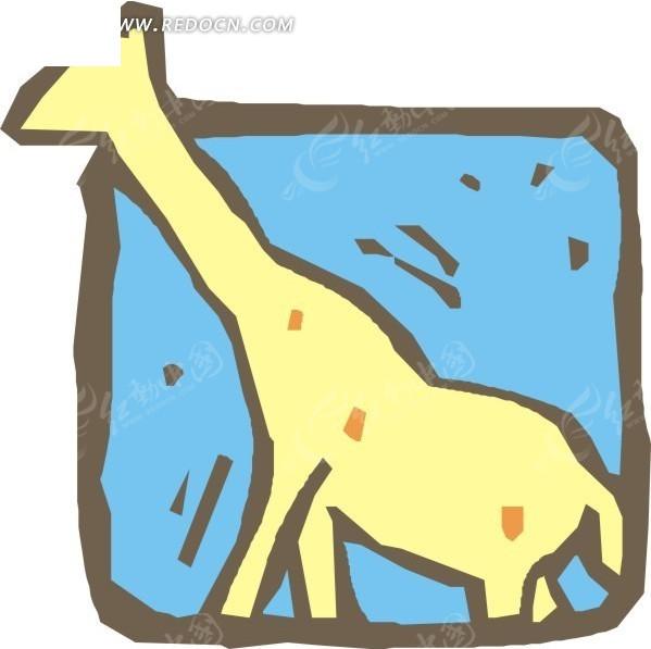 长颈鹿插画矢量图标矢量图eps免费下载