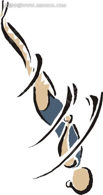 抽象 体育运动 卡通画 插画 手绘 矢量素材 人物图片 卡通形象  生活