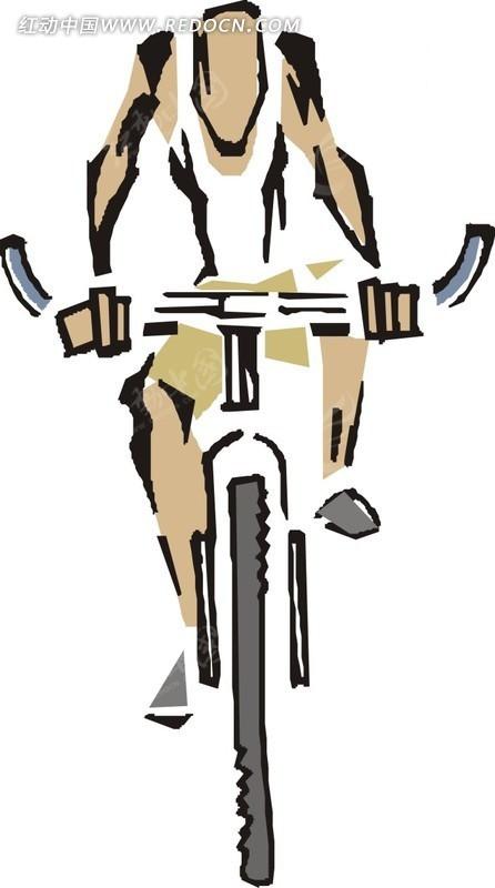 骑脚踏车的卡通人物EPS素材免费下载 编号1755321 红动网图片