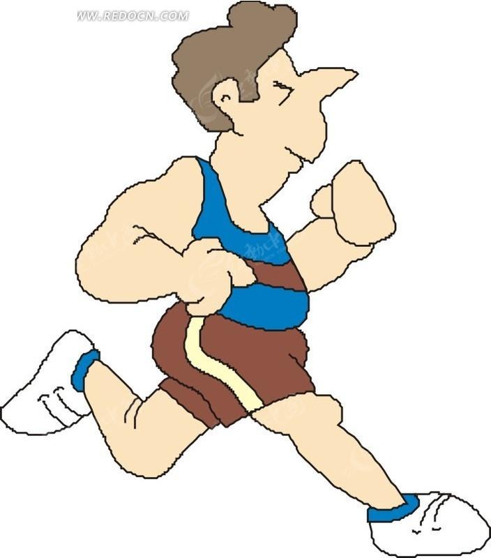 儿童手绘跑步运动员