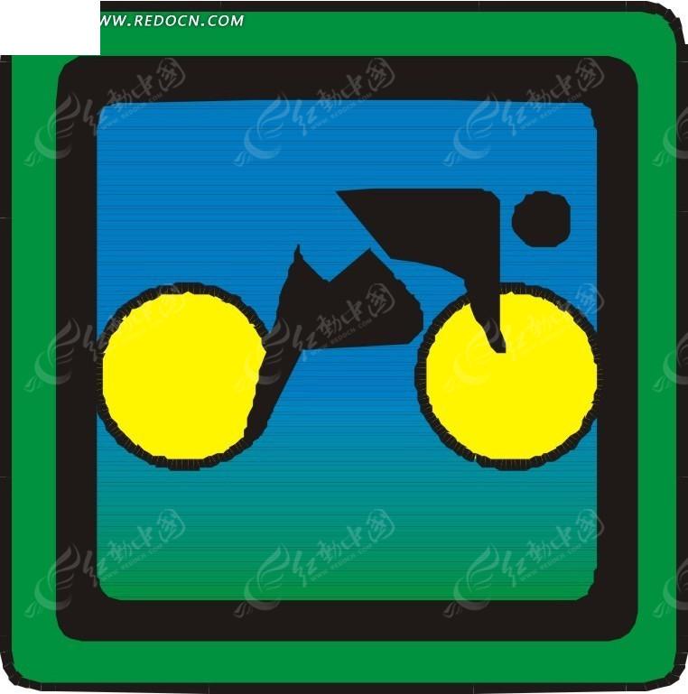 骑自行车的卡通人物EPS素材免费下载 编号1754889 红动网图片