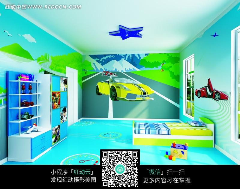 儿童房间壁画设计图片