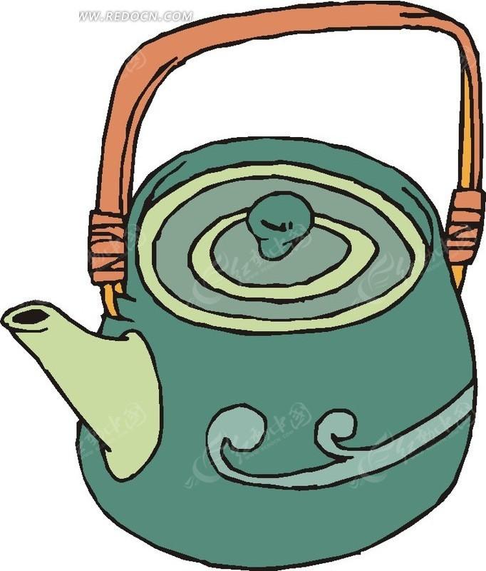 一个水壶卡通插画矢量
