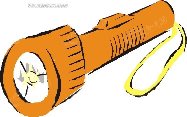 手电筒  手绘  涂鸦