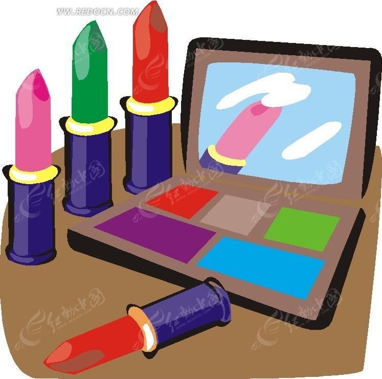 口红  化妆品 手绘  涂鸦   插画  卡通画   漫画素材  生活百科 免费