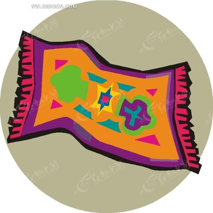 手绘漂亮的毯子