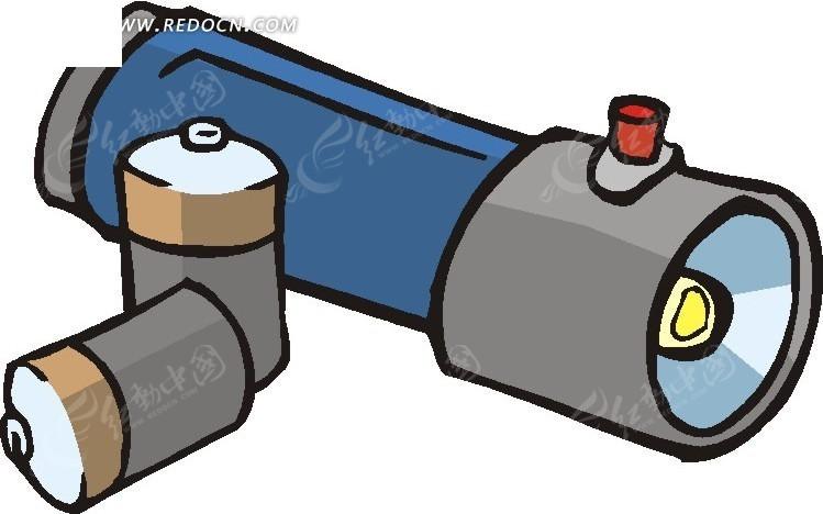 手电筒和电池