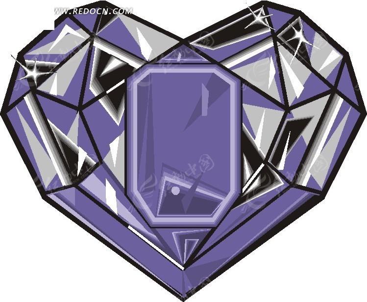 蓝色心形钻石