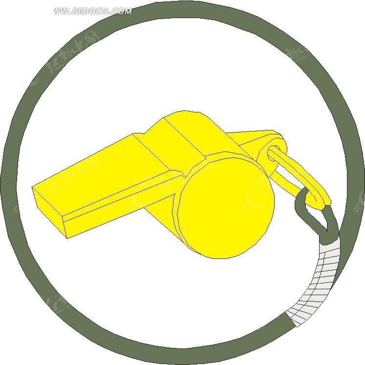 黄色的哨子EPS免费下载 生活用品素材