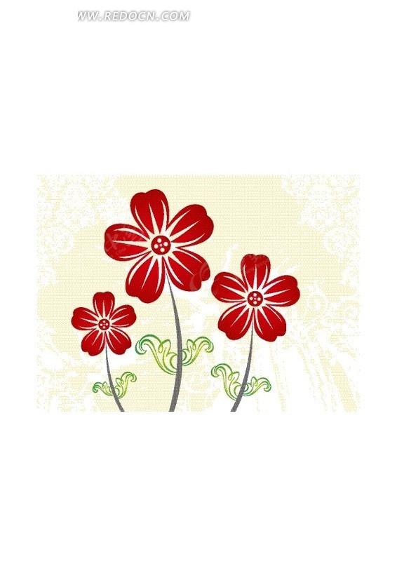 五瓣小花图案