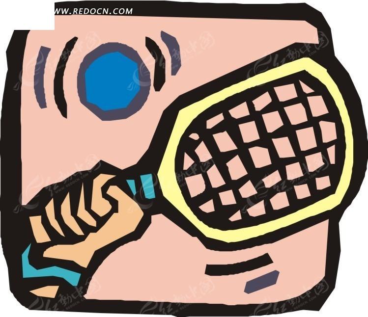 涂鸦网球卡通画