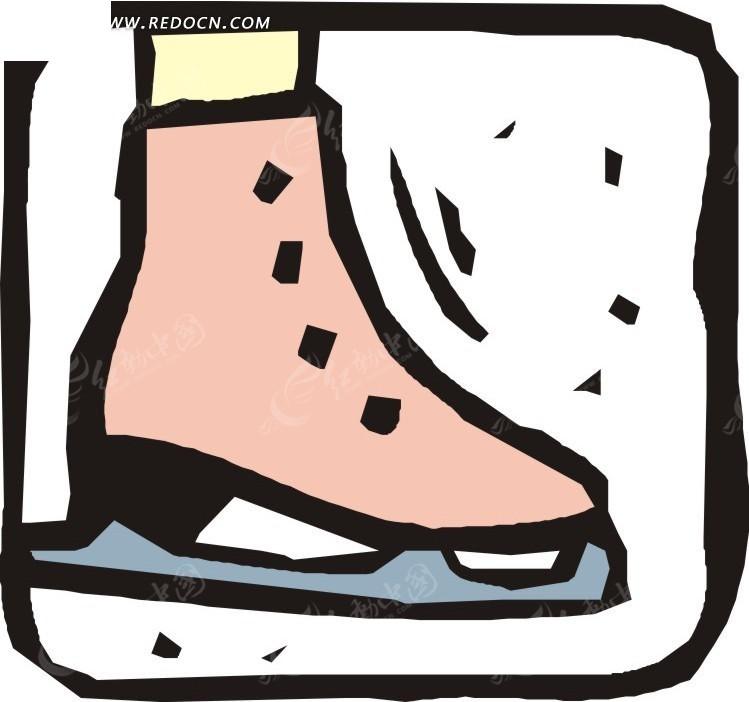 涂鸦滑冰鞋卡通画