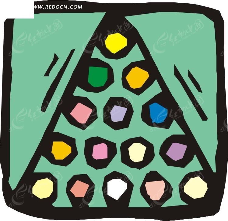 涂鸦桌球卡通画