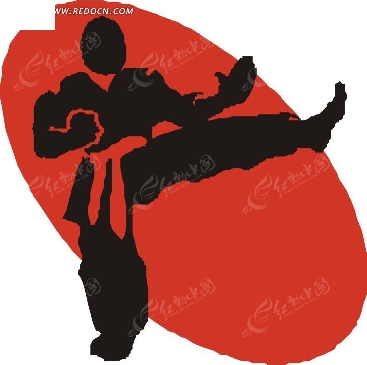练跆拳道的卡通人物