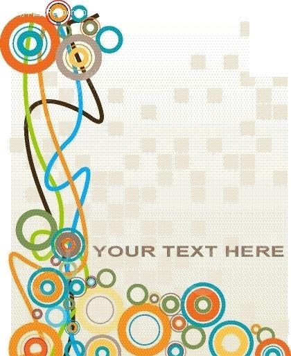 卡片设计 创意卡片 背景 底纹 精美花纹 圆点 彩色 曲线 背景素材