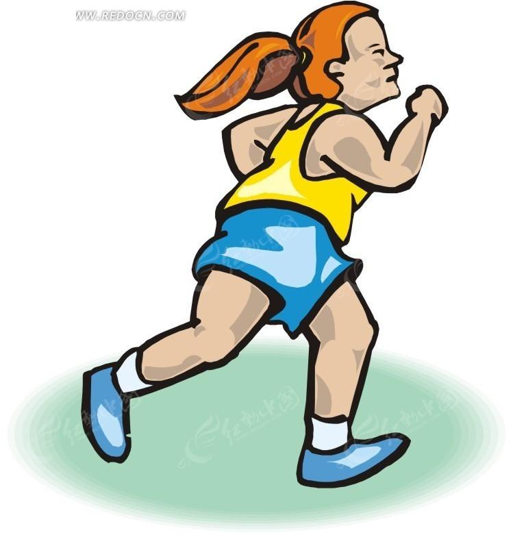 跑步的卡通人物