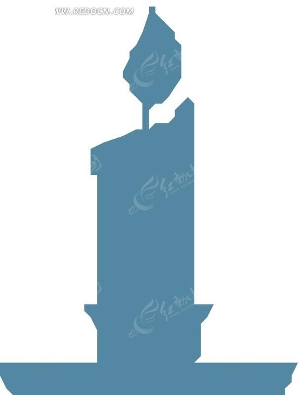 手绘蓝色蜡烛图片