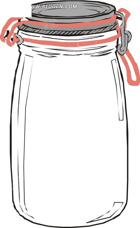 玻璃瓶里的卡通图片; 关键词:玻璃瓶eps素材矢量矢量素材插画卡通