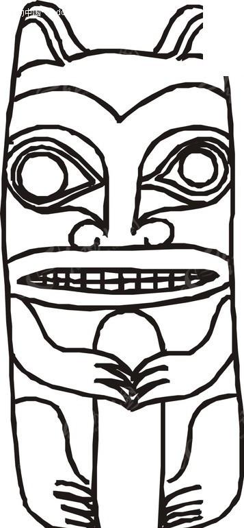 手绘面具图片简笔画