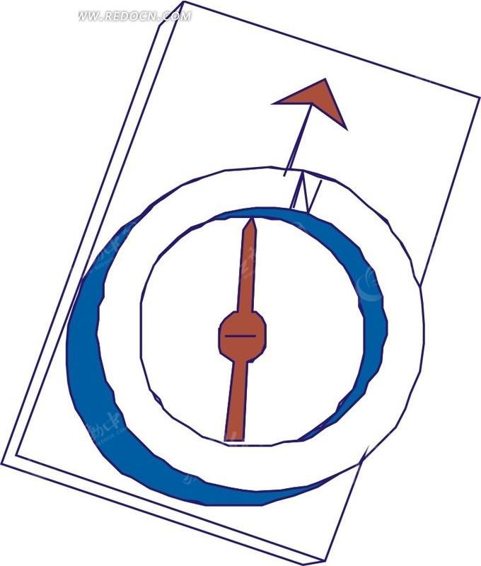 简易指南针图片高清图片