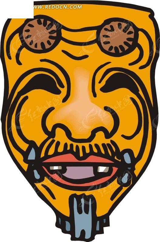 小伽罗面具手绘图片