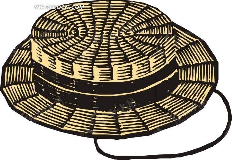 手绘藤条帽子