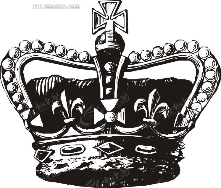 手绘头像 口红 皇冠