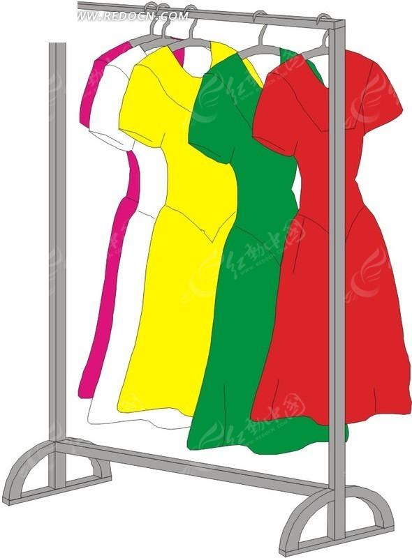 衣架上的裙子图片