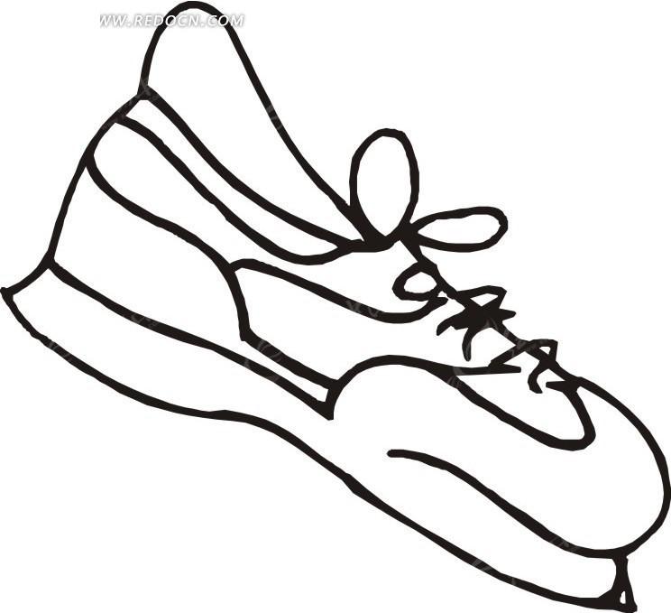线描简笔画鞋子