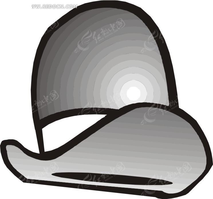 手绘灰色帽子