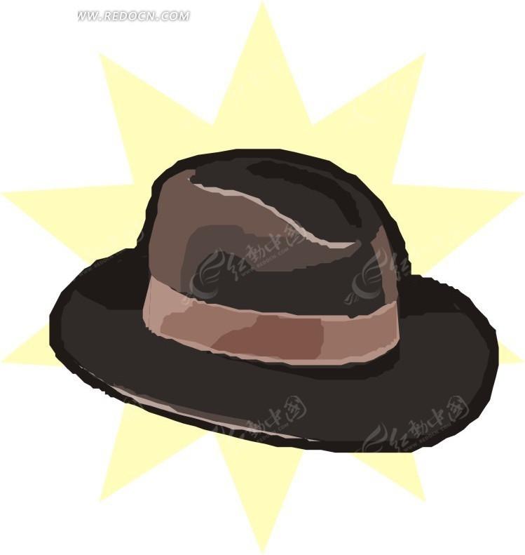手绘灰色帽子eps素材免费下载_红动网