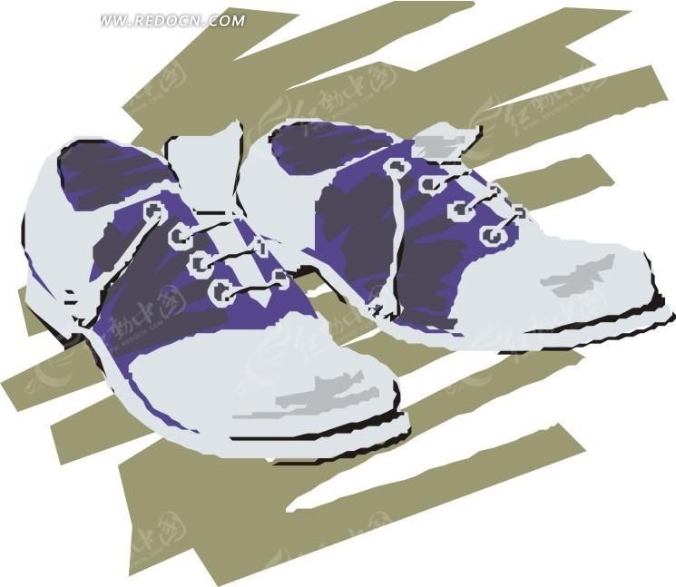手绘皮鞋矢量图_珠宝服饰