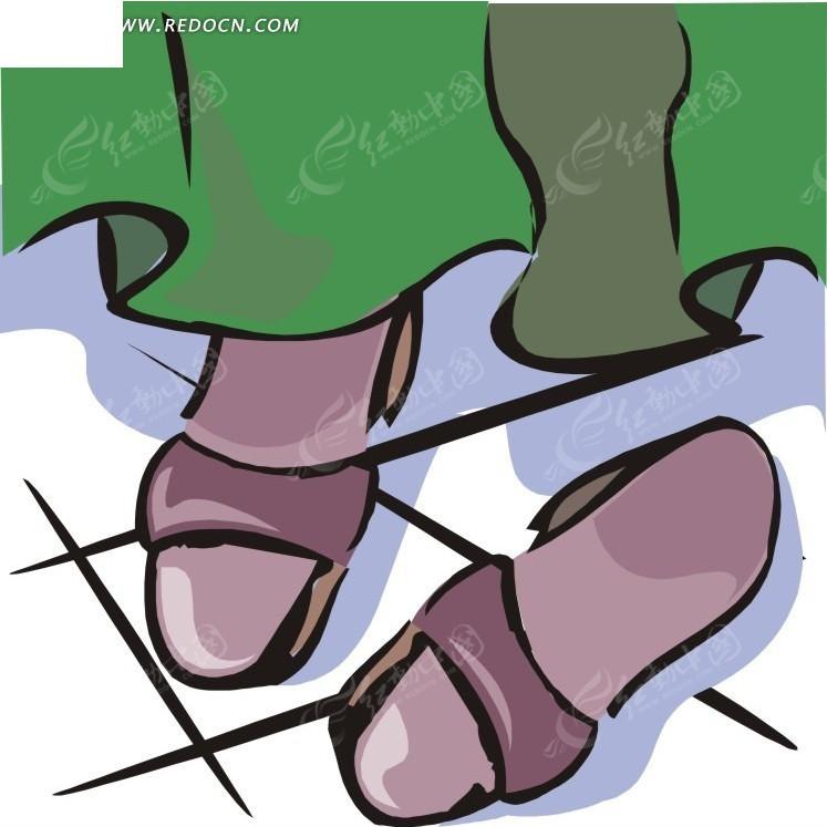 手绘裙子和鞋子
