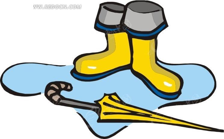 雨靴和雨伞EPS素材免费下载 编号1761389 红动网